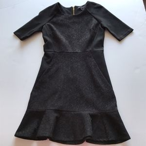 Juicy Couture Lace Panel Flared Stretch Dress 4